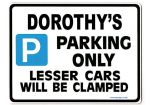 DOROTHY'S Personalised Parking Sign Gift | Unique Car Present for Her |  Size Large - Metal faced